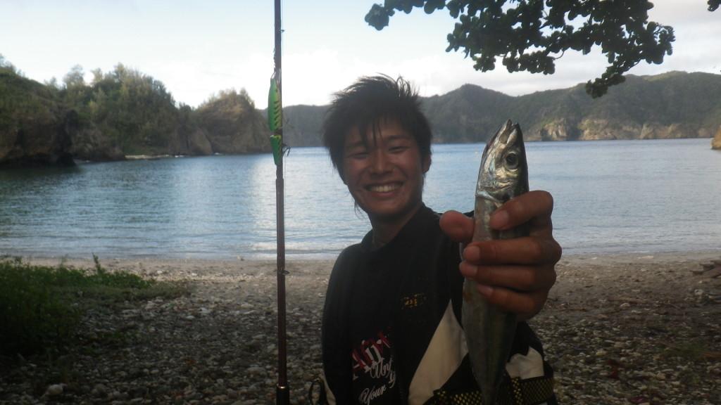 魚が釣れればいつもにこにこだった。